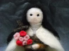 St Therese of LisieuxFigure Needle Felted by mountainpeakfish, $30.00