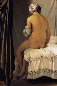 Ingres, Jean Auguste Domingue (1780-1867) - 1808 The Bather (Musee du Louvre, Paris)