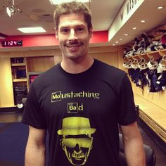Caps' #Movember captain Troy Brouwer shows off his #Mo