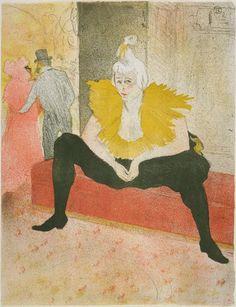 Henri de Toulouse-Lautrec, The Seated Clowness, 1896, Harvard Art Museums/Fogg Museum. studio toulouselautrec, toulous lautrec, toulouselautrec henri, toulouselautrec 1896, henri de, toulouselautrec 18641901, artist, clowns, de toulouselautrec