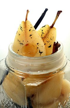 Cinnamon Vanilla Bean Poached Pears.