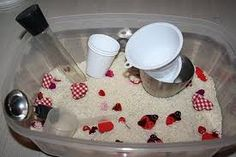 Valentine's Day sensory tub..kids love these things! <3