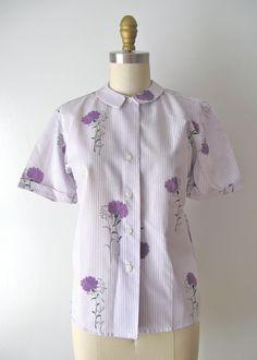 vintage 1960s deadstock blouse / Lavender Blossom