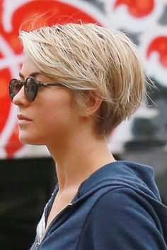 <p>The former <em>Dancing with the Stars</em> favorite is not a stranger to short hair, she has gone from long waves to an asymmetrical bob and back again. But she just got a little more drastic and joined the pixie club. We like!</p>