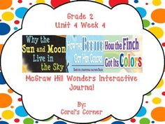 This 2nd grade interactive journal is aligned to Common Core and to the McGraw Hill Wonders series for Unit 4-Week 4. This highly INTERACTIVE journal is ideal for teaching all of this week's skills in a powerful, student-friendly way!