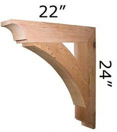 Wood Bracket 03T3 for Basement Door Portico