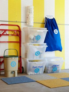 Magnetic strips are great for tool storage. If you have garden trowels or other items that you need to keep handy, you can add magnetic strips to a shelf or the wall to keep these tools within reach. You can also put many tools on hooks on a pegboard or keep them in a labeled plastic tote for better organization.