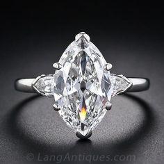 3.39 Ct. 'E - Internally Flawless' Antique Marquise Diamond Ring $139,000.00