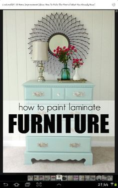 Painting Laminate Dresser On Pinterest Painting Laminate Furniture Hand Painted Stools And