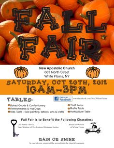 This fun fall fair on Saturday, October 20th in White Plains will benefit MSP and Meals on Wheels!
