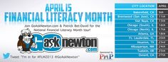 April is National Literacy Month, get smart about your finances!  Take the test @ http://goasknewton.com