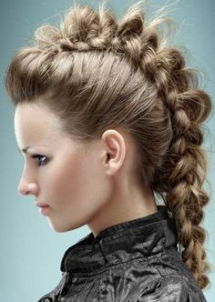 Braided Mohawk. Ok I'm sry but this looks really cool. Lol