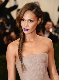 vaniti, rock, purpl lipstick, fishtail braids, side braid, joan small