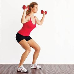 Get tank top and shorts ready with this squat press move. #workout | Health.com