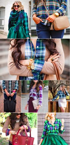 Plaid Fall button down shirts