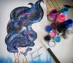 Galaxy hair  #drawing #art