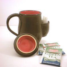 Mug Tea Drinkers Sidekick Black And Red Cup With by AngelaIngram