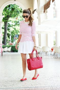 Scent of Obsession - Fashion blogger: Look of the day: Red and White