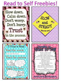Mrs. Miner's Kindergarten Monkey Business: Daily 5 Freebie Read to Self posters