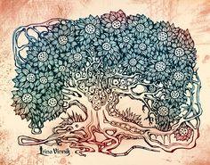 irina vinnik, artists, drawings, artworks, tree