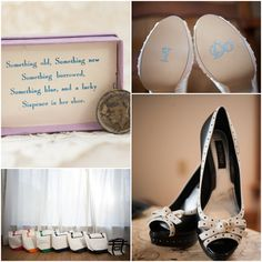 Country wedding something old plus brides and bridesmaids shoes