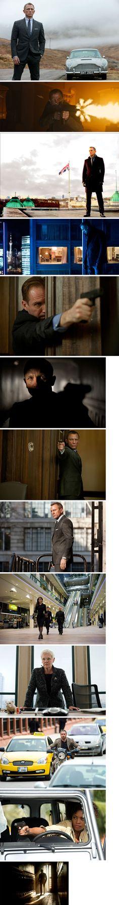 "Scenes from the James Bond movie, ""Skyfall."""