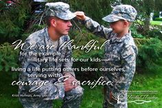 We are thankful for the example military life sets for our kids--living a life putting others before ourselves, serving with courage and sacrifice. Kristi Hofman, Army wife. (photo courtesy Kristi Hofman) #Thankful #Thursdays #1000gifts www.operationwearehere.com