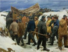 painting by Michael Ancher (Danish,1849 - 1927)
