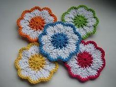 Crochet Springtime Coasters: free pattern