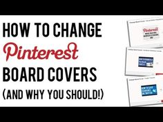 How to Change Pinterest Board Covers (And Why You Should!) #pinterest #socialmedia
