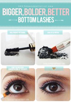 Lip brushes make it so much easier to apply mascara to lower lashes. | 20 Unexpected Uses For Your Beauty Products