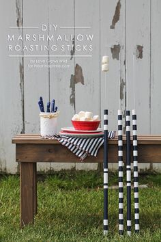 Learn how to make these DIY Marshmallow Roasting Sticks for summer bonfires! | LoveGrowsWild.com