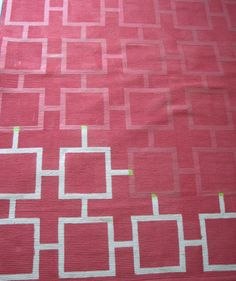 IKEA Hack: Painted, patterned rug