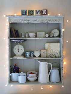 Really cute shelf with lights