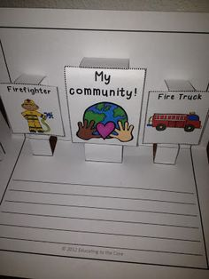 Educating to the Core: Community Helpers.  Supplement your community helpers unit writing with a 3-D pop-up book! $