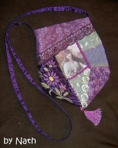 I ❤ crazy quilting & embroidery . . . Purple Gypsy CQ Bag ~By Nath