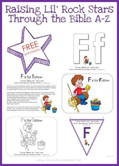 Free Bible Verse Printables ~ Letter F from Raising Lil Rock Stars