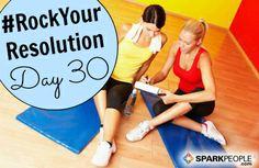 Happy Thursday, everyone!! We are SO CLOSE to finishing our #RockYourResolution challenge. Tomorrow is the last day, so let's make it count! Today, try to get at least 30 #fitness minutes. If you already do that (or more), squeeze in 10 more minutes than you usually would. Every little bit counts! Who's in?? | via @SparkPeople #resolution #newyear #goals #fitness #workout