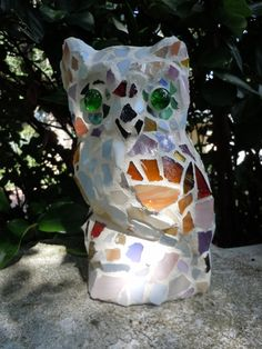 Mosaic Owl for Indoors or Out  Garden or Patio  by totallylegalpot, $54.95