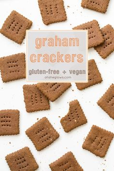 Gluten-Free and Vegan Graham Crackers! perfect for the holidays.