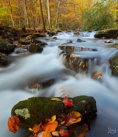 """The Chattahoochee River in Helen North Georgia, """"Painted Rock"""" by Sayran on Flickr"""