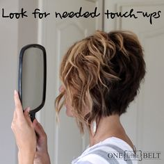Curls for short hair..so cute www.onelittlemomma.com