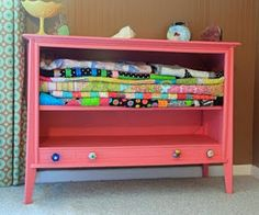 upcycled dresser turned blanket chest Love it!