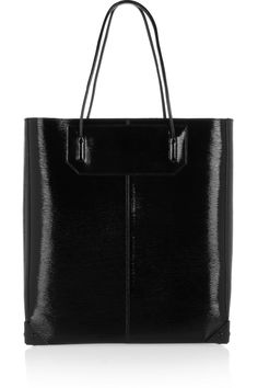 Prisma textured-leather tote by Alexander Wang