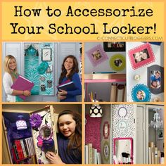 how to accessorize school locker  #Locker #Decoration