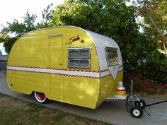 Yellow 1954 Shasta Custom