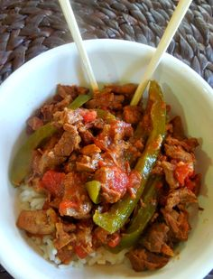 Crockpot Pepper Stea
