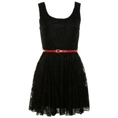 Love Milly Black Sleeveless Lace Dress ($32) ❤ liked on Polyvore