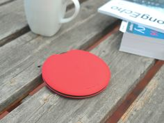 Deuce is a pocket wireless charger that charges your mobile phone wirelessly when plugged in or if not, then via the back up battery.