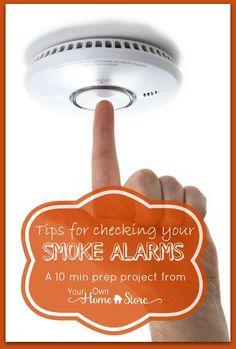check your smoke alarms